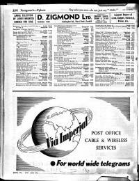 British phone book entry for the year 1961 showing Zeidman